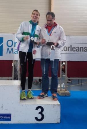 Daniel Cossec et Edwige Trotin, 12ème, 3ème équipe mixte, en 3h30'39''